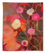Frida Kalho Inspired Fleece Blanket