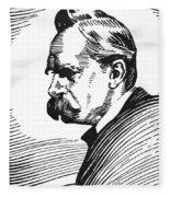 Friedrich Nietzsche Fleece Blanket