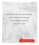 Friedrich Nietzsche Quotes - Literary Quotes - Book Lover Gifts - Typewriter Quotes Fleece Blanket