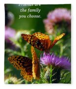 Friends Are Family Fleece Blanket
