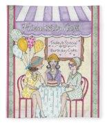 Friendship Cafe Fleece Blanket
