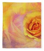 Friendship Rose Textured Fleece Blanket