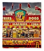 Fries Nachos Dogs Fleece Blanket