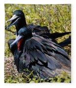 Frigatebirds In Love Fleece Blanket