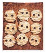 Frightened Mummy Baked Biscuits Fleece Blanket