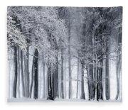 Frigid Forest Fleece Blanket