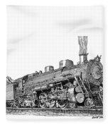Steam Driven Locomotive Fleece Blanket