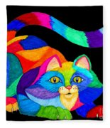 Frisky Cat Fleece Blanket