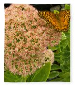 Fritillary On Flower Fleece Blanket