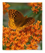 Frittalary And Milkweed Fleece Blanket