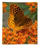 Frittalary Milkweed And Life Fleece Blanket