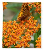 Frittalary Milkweed And Nectar Fleece Blanket