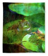 Frog And Lily Pad 3076 Idp_2 Fleece Blanket