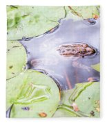 Frog And Lily Pads Fleece Blanket