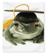 Frog Graduate Fleece Blanket