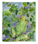Frog In The Pond Fleece Blanket
