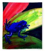 Frog On Leaf Fleece Blanket