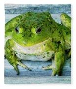 Frog Portrait Fleece Blanket