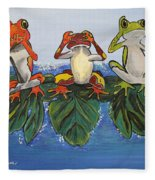 Frogs Without Sense Fleece Blanket