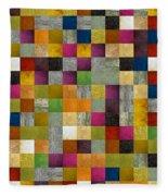 From Fence To Feast Panel Sketch Fleece Blanket