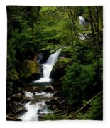 From Out Of The Smoky Mountains Fleece Blanket