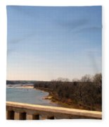 From The Bridge The Red River Fleece Blanket