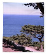 From The Cliff Of Lands' End 02 Fleece Blanket