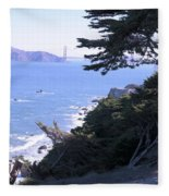 From The Cliff Of Lands' End 04 Fleece Blanket