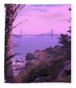From The Cliff Of  Lands End 06 Fleece Blanket