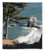 From The Cliff Of Lands' End Fleece Blanket