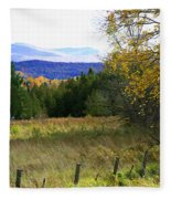 From The Field To The Mountains Fleece Blanket