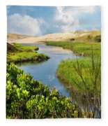 From The Sand Dunes To The Beach Fleece Blanket