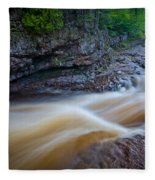 From The Top Of Temperence River Gorge Fleece Blanket