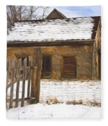 Pioneer Home Painterly Impression Fleece Blanket