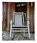 Front Porch Rocker Fleece Blanket
