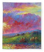 Front Range Sunset Fleece Blanket