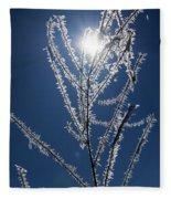 Frost Ice Crystals Fleece Blanket