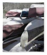 Frosted Canoes Fleece Blanket