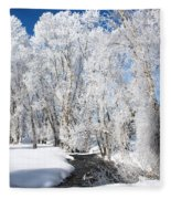 Frosted Cottonwoods Fleece Blanket