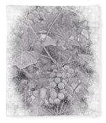 Frosted Grapes Vignette Fleece Blanket