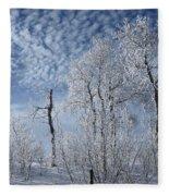 Frosted Hilltop Quakies Fleece Blanket