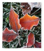 Frosted Leaves Fleece Blanket