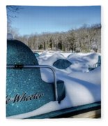 Frosted Paddleboats Fleece Blanket