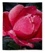 Frosted Rose Fleece Blanket