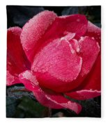 Frosted Rose Fleece Blanket