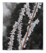 Frosty Branches Fleece Blanket
