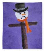 Frosty Cross Fleece Blanket