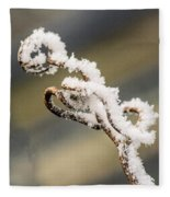 Frosty Curlique With A Twist Fleece Blanket