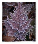 Frosty Fern Christmas Fleece Blanket