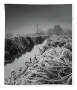 Frosty Field Fleece Blanket